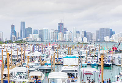 Docks Miami Skyline