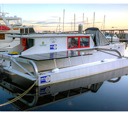 Solar and Electric Powered Boat