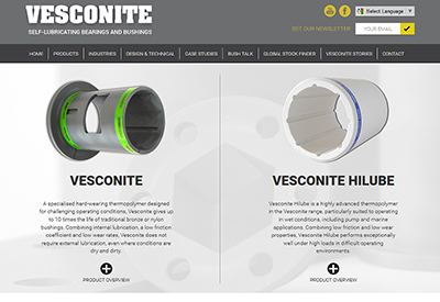 Vesconite Website