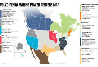 Volvo Power Center Map