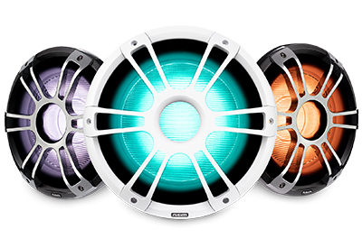Garmin and Fusion Series 3 Marine Speakers